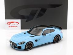 Mercedes-Benz AMG GTR Opførselsår 2017 porcelæn blå 1:18 GT-Spirit