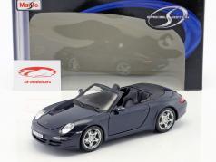 Porsche 911 Carrera S Cabriolet dark blue metallic 1:18 Maisto
