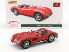 Jaguar C-Type año de construcción 1952 rojo 1:18 CMC