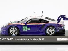Porsche 911 (991) RSR #91 2nd LMGTE Pro 24h LeMans 2018 Porsche GT Team 1:43 Spark