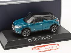 Citroen DS 3 Crossback Baujahr 2019 türkis metallic / schwarz 1:43 Norev