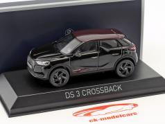 Citroen DS 3 Crossback Premiere 2019 schwarz metallic / rot 1:43 Norev