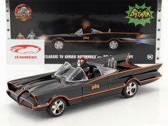 Batmobile Classic TV Series 1966 com ordenança e Robin figura 1:18 Jada Toys