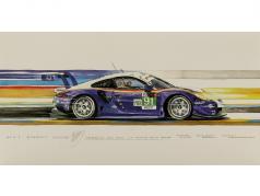 Porsche 911 (991) RSR #91 segundo LMGTE Pro 24h LeMans 2018 1:18 Spark