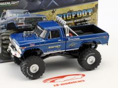 Ford F250 ano de construção 1974 Bigfoot #1 Original Monster Truck azul 1:43 Greenlight