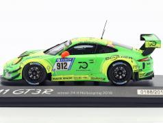 Porsche 911 (991) GT3 R #912 vencedor 24h Nürburgring 2018 Manthey Racing 1:43 Minichamps