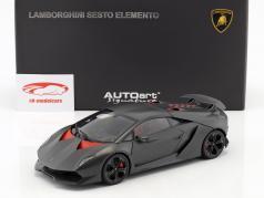 Lamborghini Sesto Elemento Año 2010 carboxílico gris 1:18 AUTOart