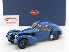 Bugatti 57S Atlantic anno 1938 blue con ruote a raggi 1:18 AutoArt