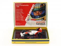 Ayrton Senna McLaren MP4/4 #12 campeón del mundo Japón GP F1 1988 1:43 Minichamps