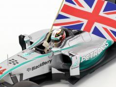 L. Hamilton Mercedes F1 W05 #44 wereldkampioen Abu Dhabi F1 2014 1:18 Minichamps