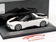 BMW I8 Roadster (I15) Opførselsår 2018 hvid metallisk 1:43 Minichamps