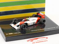 Ayrton Senna McLaren MP4/4 #12 champion du monde Japon GP F1 1988 1:43 Minichamps