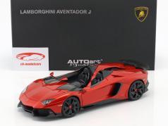 Lamborghini Aventador J År 2012 rød metallisk 1:18 AUTOart