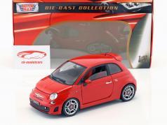 Fiat Abarth 500 Año 2008 rojo 1:18 MotorMax