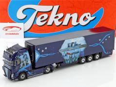Volvo FH GL XL vrachtwagen KüKoSzg IFL Köln blauw 1:50 Tekno