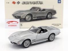 Chevrolet Corvette ano de construção 1969 prata 1:18 AUTOart