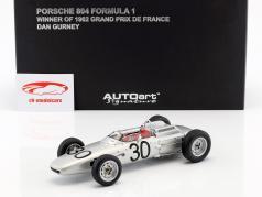 Dan Gurney Porsche 804 #30 Vencedor do GP da França de Fórmula 1 1962 1:18 AUTOart