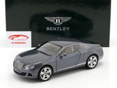 Bentley Continental GT Thunder año 2011 metálica de color gris azulado 1:18 Minichamps