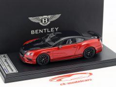 Bentley Continental GT Supersports année de construction 2017 noir / rouge métallique 1:43 LookSmart