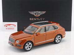 Bentley Bentayga Construcción año 2017 naranja llama 1:18 Kyosho
