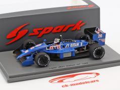 Stefan Johansson Ligier JS31 #26 USA GP formel 1 1988 1:43 Spark