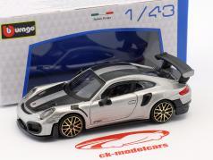 Porsche 911 (991 II) GT2 RS Street Fire prata 1:43 Bburago
