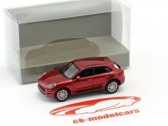 Porsche Macan Turbo year 2013 red metallic 1:87 Minichamps