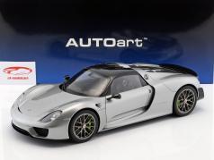 Porsche 918 Spyder 築 2013 銀 1:12 AUTOart