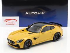 Mercedes-Benz AMG GT-R Opførselsår 2017 sol stråle gul metallisk 1:18 AUTOart