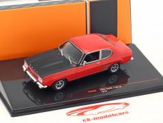 Ford Capri 1700 GT year 1970 red / black 1:43 Ixo
