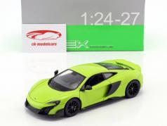 McLaren 675LT year 2017 light green 1:24 Welly