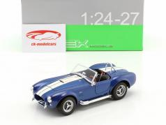 Shelby Cobra SC 427 année de construction 1965 bleu / blanc 1:24 Welly