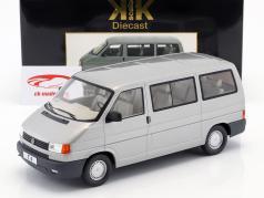 Volkswagen VW T4 autobús Caravelle año de construcción 1992 gris metálico 1:18 KK-Scale