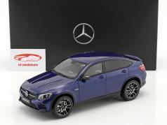Mercedes-Benz AMG GLC 43 クーペ 輝かしいです ブルー 1:18 GT-Spirit