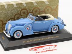 Packard Convertible Victoria anno di costruzione 1938 azzurro 1:43 Ixo
