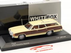 Ford LTD Country Squire Bouwjaar 1972 helder geel / bruin 1:43 WhiteBox