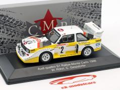 Audi Quattro Sport E2 Night Version #2 第四 Rallye Monte Carlo 1986 Röhrl, Geistdörfer 1:43 CMR