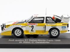 Audi Quattro Sport E2 Night Version #2 4th Rallye Monte Carlo 1986 Röhrl, Geistdörfer 1:43 CMR