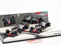 Grosjean #8 & Magnussen #20 2-Car Set Haas VF-18 formule 1 2018 1:43 Minichamps