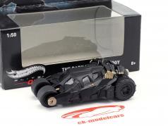 Batmobile fra den Film Den Mørk Knight Triology sort 1:50 HotWheelsElite One