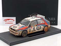 Lancia Delta HF Integrale #4 gagnant Rallye Monte Carlo 1992 Dirty Version 1:18 TopMarques