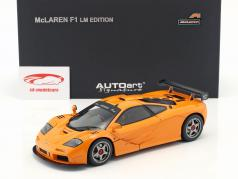 McLaren F1 LM Edizione Anno 1995 Arancione 1:18 AUTOart