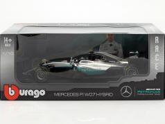 Nico Rosberg Mercedes F1 W07 Hybrid #6 campione del mondo formula 1 2016 1:18 Bburago