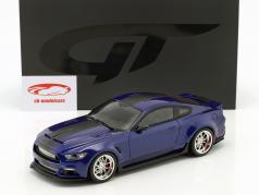 Ford Shelby GT-350 Widebody Bouwjaar 2017 donkerblauw 1:18 GT-Spirit