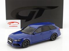Audi RS6 Performance (C7) Nogaro Edition year 2018 nogaro blue 1:18 GT-Spirit