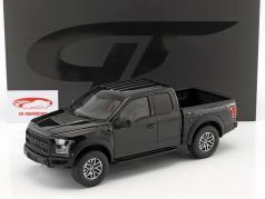 Ford Raptor F150 ano de construção 2017 preto 1:18 GT-Spirit