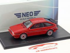 Volkswagen VW Scirocco II Scala année de construction 1986 rouge 1:43 Neo