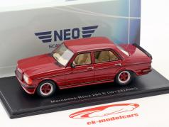 Mercedes-Benz 280 E (W123) AMG year 1980 dark red metallic 1:43 Neo