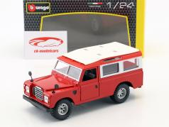 Land Rover Series II rouge / blanc 1:24 Bburago