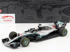 Lewis Hamilton Mercedes-AMG W09 EQ campione del mondo formula 1 2018 1:18 Minichamps